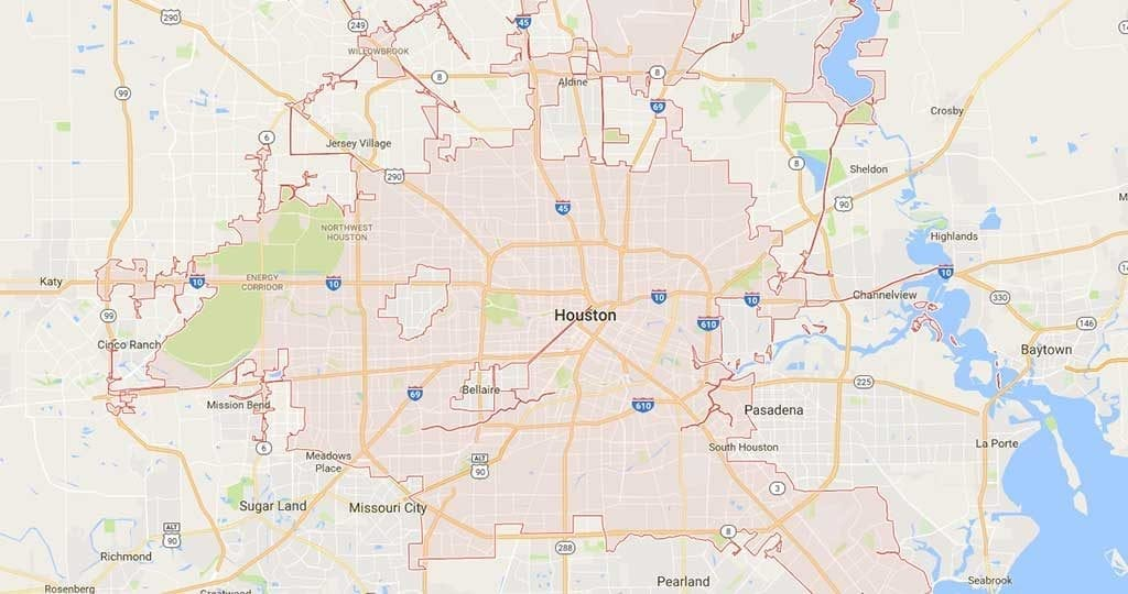houston courier map